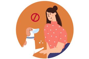 Evita el uso del tapabocas en tu mascota