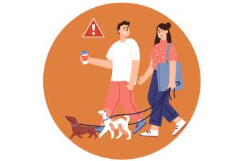 Evita que tu perro entre en contacto con los demás